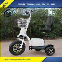 China 500W 48V electric scooter 2016 zappy 3 wheel electric scooter for adult