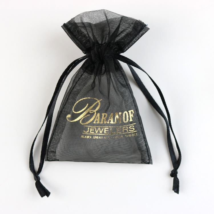 Factory Price Wholesale Custom printed organza drawstring bag