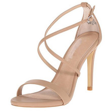 China Wholesale drop Shipping Leather Women Cross Strap Stiletto Sandal Nude color Stiletto high Heel party dress Sandals