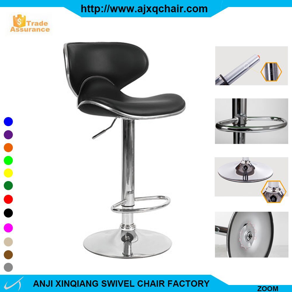 XQ-751A Sponge And Leather Cushioned High Back China Suppliers Commercial Bar Stool With Footrest Covers