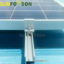 High Quality Tin home 2KW PV panel mounting structures solar roof kits