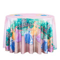Girls Cartoon Printed Decor Round Table Cover For Party Hotel Kids Table Cloths
