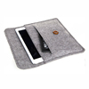 Grey Wool Felt Sleeve Case for iPad Mini witn button on Sale
