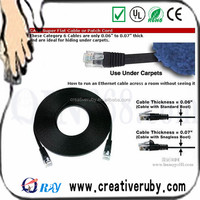 Factory supply 24awg flat utp cat 5 lan cable
