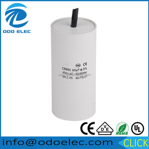 CBB60 washing machine capacitor 450V 70UF water pump starting capacitor