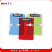 Promotional Plastic Paper Clip Board