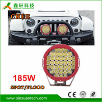 "Hot sale high power 4X4 led work light 12v round off road 9""car led 185w"