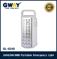 24 pcs HI-power SMD portable LED emergency light rechargeable