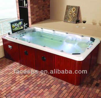 4 Meter Swim Spa Hot Tub With Tv Fs S04 Endless Pool Buy Hot Tub Swim Spa Swimming Pool