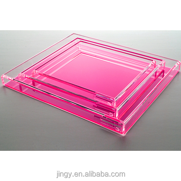 fashion pretty pink clear plexiglass lcd tv floor stand laptop stand