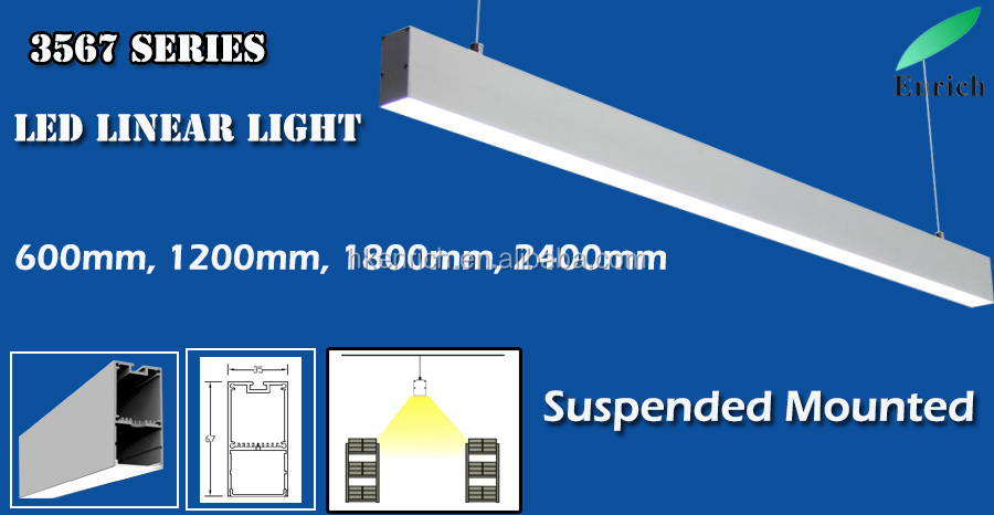 100-277 voltage led light linear fitting