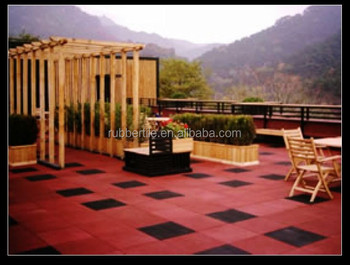 rubber tiles for car park & garden