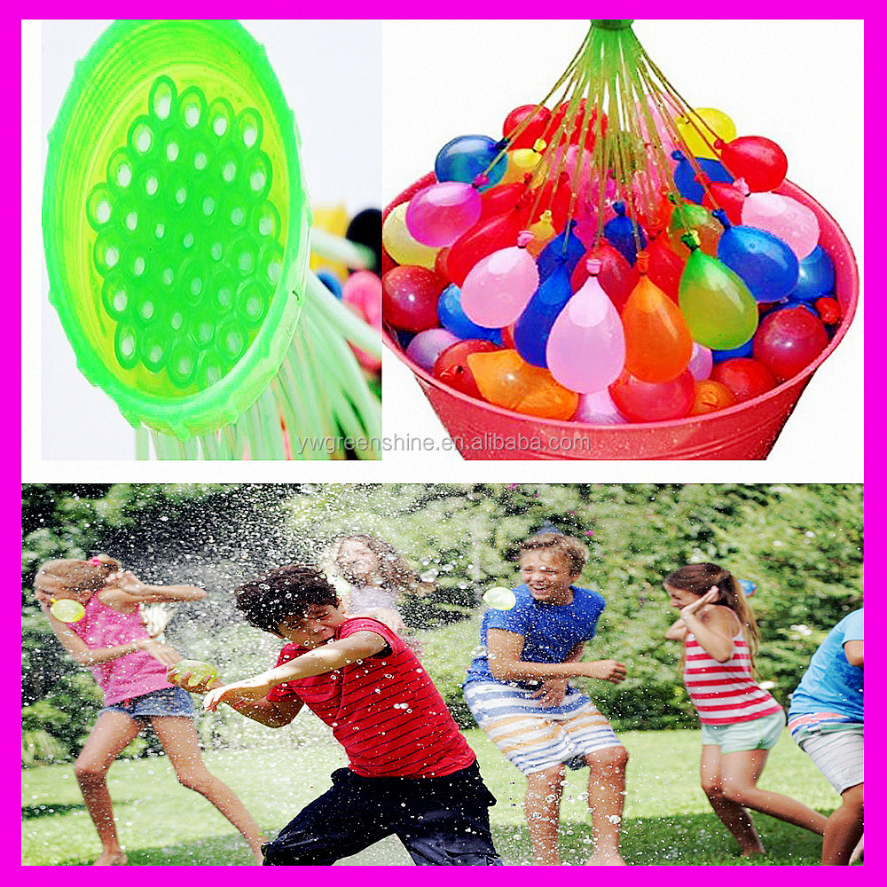 High quaility top popular self sealing Magic ballons 37 water balloons bunch, magic water balloons made in china