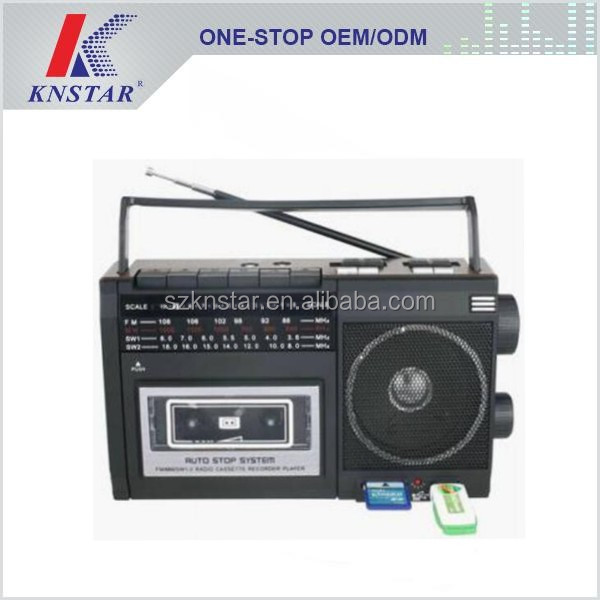 Portable USB Cassette Radio Player with AC Power