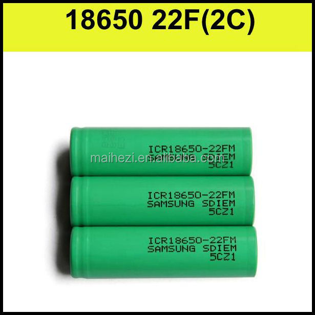 Electronic cigarette big battery Samsung18650-22f 2200mAh 3.7v lithium ion battery for cigarettes accessories