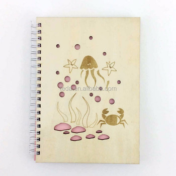 New design creative gift eco friendly wooden cover notebook