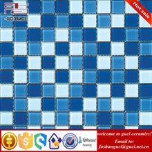 China manufacture New Fashion blue glass mosaic mosaic tile coffee table