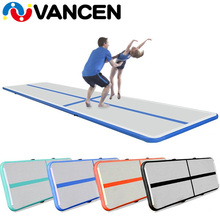 DWF PVC indoor sport equipment used commercial gymnastics gym mat 5m inflatable air track for sale