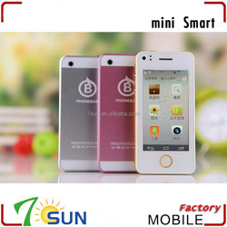 2014 New World's Smallest Mini Android Phone Dual SIM Bluetooth WIFI android phone