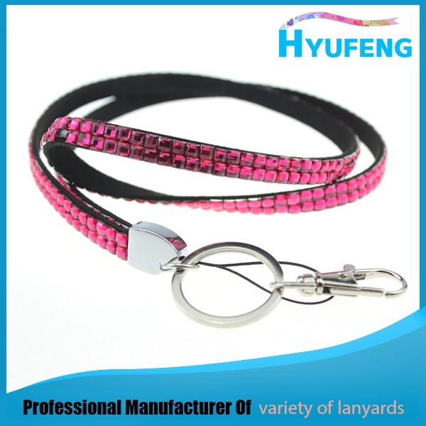 Hot selling diamond crystal rhinestone lanyards