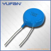 High Voltage Ceramic Disc Capacitor, Radial Lead Type, 15kV102K