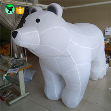 Outdoor decoration giant christmas holiday inflatable white lovely bear ST56
