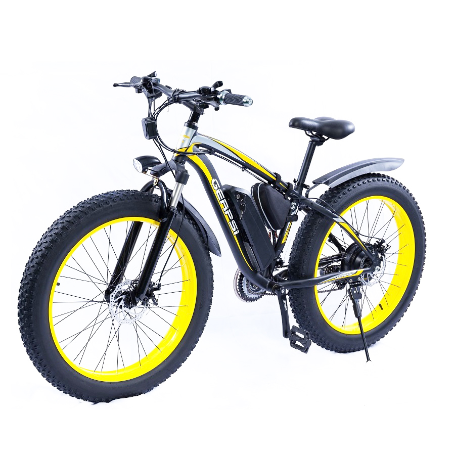 Adult Two Wheel 48 V <strong>1000</strong> <strong>W</strong> Lithium Battery 26 inch CE Fat Tire Touring Ebike Hunting Manual Electric Bike With Pedal