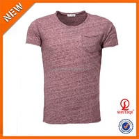 Pocket men 95% polyester 5%cotton t shirt manufacturing with wholesale price
