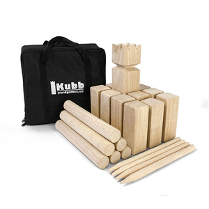 Garden wooden kubb game set for outdoor funny 3210