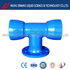 Competitive price epoxy resin coasting double socket tee with flanged branch