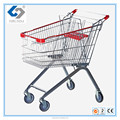 60L wheeled supermarket shopping Trolley carts with European style