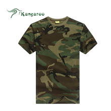 High Quality Custom Short Sleeve Camouflage Special Forces T-Shirt Printing