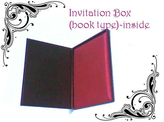 invitation box book type