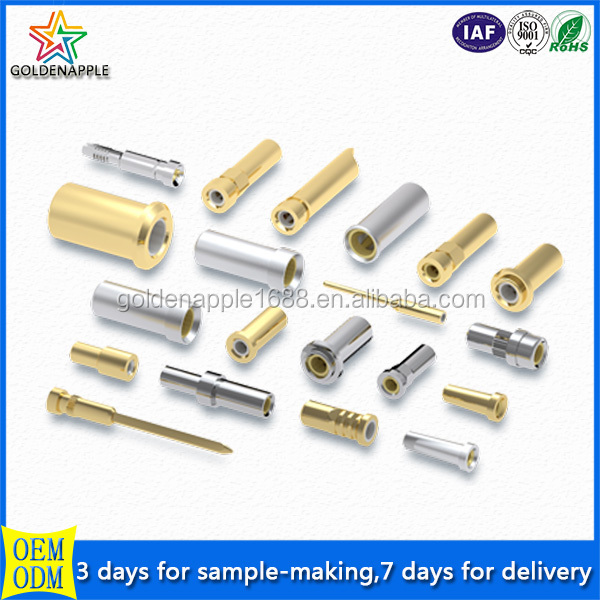 Custom-made auto lathe brass socket pin,brass electrical plug pins