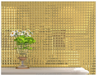 M001 Gold five face decorative wall mirror glass mosaic tile