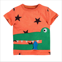 S31076W European branded standard model kids solid printed t-shirt