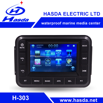 "New design Touch screen Bluetooth 5.0"" display radio for boats"