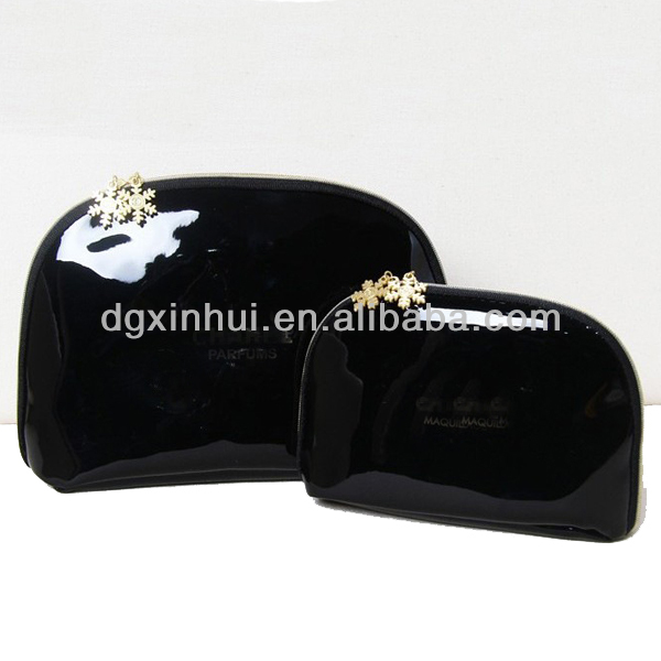 Fashion patent leather dumpling promotion cosmetic bag