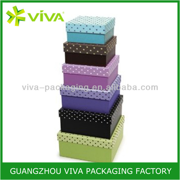 Custom made recycled nested decorative gift boxes wholesale