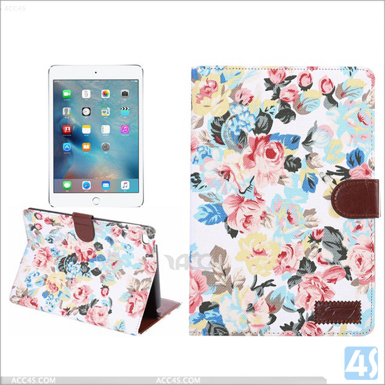 book style folio Ultra Thin Stand PU Leather Smart Case Cover for ipad mini 4