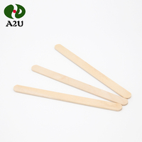 China High Quality 114mm Disposable Factory Round Wood Stick Ice Cream Lolly Sticks
