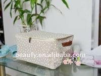 top zipper linen storage box
