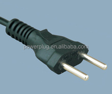 Brazil standard Inmetro approval 2 pins ac power cord electrical plug with connector YHB-4 using 4.0mm pin