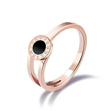 Marlary Stainless Steel Jewellery With Stone Light Weight Gold Ring Jewelry Women Wedding Ring