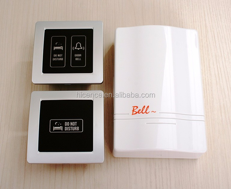 Luxury Tempered Glass Hotel DND Doorbell with MUR