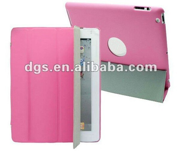 High Quality Colorful Streamline Shape PU Leather Case For iPad