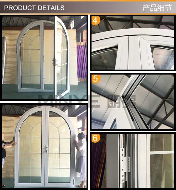 portable european standard aluminum windows with high quality