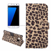 Hot Items 2016 Fashion Leopard Texture Flip Leather Wallet Case Cover For Samsung Galaxy S7 / S7 Edge