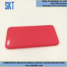 Red light weight plastic cell phone case