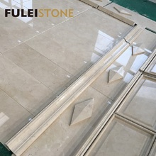 Popular Design Crema Marfil Marble Stone Wall Cladding